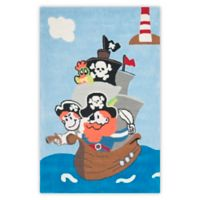 Safavieh Kids Pirates 4-Foot x 6-Foot Area Rug in Blue/Multi