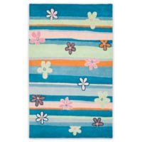 Safavieh Kids® Daisy Stripes 8-Foot x 10-Foot Area Rug in Blue/Multi