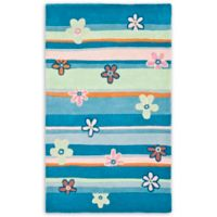Safavieh Kids® Daisy Stripes 2-Foot x 3-Foot Accent Rug in Blue/Multi
