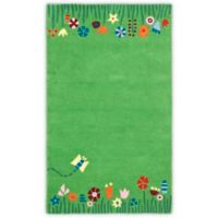 Safavieh Kids Floral Border 6-Foot x 9-Foot Area Rug in Green