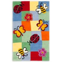 Safavieh Kids Garden Critters 6-Foot x 9-Foot Multicolor Area Rug