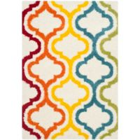 Safavieh Kids® Border Trellis 5-Foot 3-Inch x 7-Foot 6-Inch Shag Area Rug in Ivory/Multi