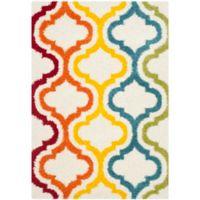 Safavieh Kids® Border Trellis 4-Foot x 6-Foot Shag Area Rug in Ivory/Multi