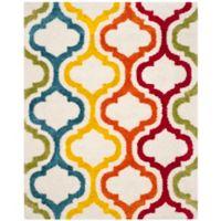 Safavieh Kids® Border Trellis 8-Foot 9-Inch x 12-Foot Shag Area Rug in Ivory/Multi