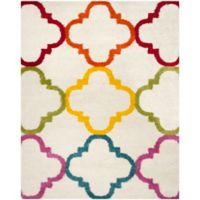 Safavieh Kids® Trellis 8-Foot 6-Inch x 12-Foot Shag Area Rug in Ivory/Multi