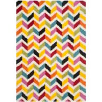 Safavieh Kids® 3-Foot 3-Inch x 7-Foot 6-Inch Zigzag Shag Area Rug in Ivory/Multi
