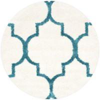 Safavieh Kids Shag 6-Foot 7-Inch Round Area Rug in Ivory/Blue
