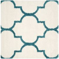 Safavieh Kids Shag 6-Foot 7-Inch Square Area Rug in Ivory/Blue