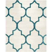 Safavieh Kids Shag 8-Foot x 10-Foot Area Rug in Ivory/Blue