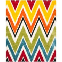 Safavieh Kids® Rainbow Zigzag 8-Foot 6-Inch x 12-Foot Shag Area Rug in Ivory/Multi