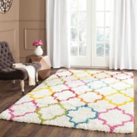 Safavieh Kids® Trellis Sketch 5-Foot 3-Inch x 7-Foot 6-Inch Shag Area Rug in Ivory/Multi