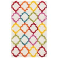 Safavieh Kids® Trellis Sketch 2-Foot 3-Inch x 5-Foot Shag Area Rug in Ivory/Multi