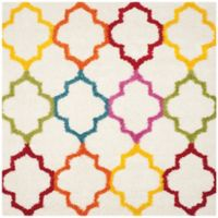 Safavieh Kids® Trellis Sketch 6-Foot 7-Inch Square Shag Area Rug in Ivory/Multi