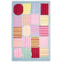 Safavieh Kids Striped Shapes 4-Foot x 6-Foot Area Rug in Blue/Multi