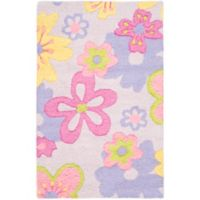 Safavieh Kids Pastel Flowers 2-Foot x 3-Foot Multicolor Accent Rug