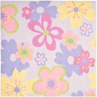 Safavieh Kids Pastel Flowers 5-Foot Round Multicolor Area Rug