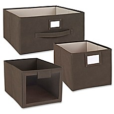ClosetMaidu0026reg; Fabric Bin And Drawer Collection In Brown