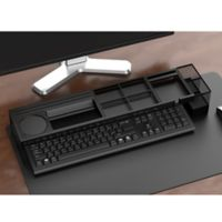 Mind Reader Axel Desk Organizer with Charging Station in Black