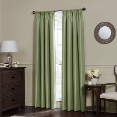 emery 63inch rod pocket insulated total blackout window curtain panel in sage