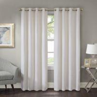 Prescott 84-Inch Room Darkening Grommet Top Window Curtain Panel in White