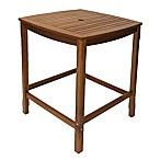 Outdoor Interiors® Eucalyptus Square Bar Table in Brown Umber