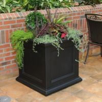Mayne Fairfield 28-Inch Square Planter in Black