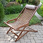 Outdoor Interiors® Eucalyptus Outdoor Swing Lounger in Brown Umber
