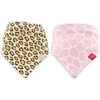 BabyVision® Hudson Baby® 2-Pack Bandana Bib with Teether in Animal Print