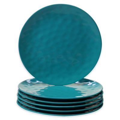 Certified International Melamine Dinner Plates in Teal (Set of 6)  sc 1 st  Bed Bath \u0026 Beyond & Buy Melamine Dinner Plates from Bed Bath \u0026 Beyond