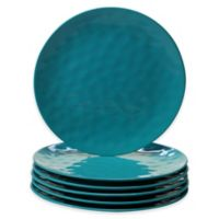 Certified International Melamine Dinner Plates in Teal (Set of 6)