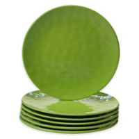 Certified International Melamine Salad Plates in Green (Set of 6)