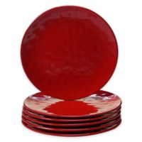 Certified International Melamine Salad Plates in Red (Set of 6)