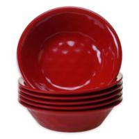 Certified International Melamine Bowls in Red (Set of 6)
