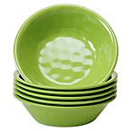 Certified International Melamine Bowls in Green (Set of 6)
