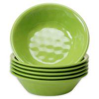 Certified International Melamine Bowls in Green (Set of 6)