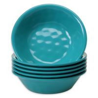 Certified International Melamine Bowls in Teal (Set of 6)
