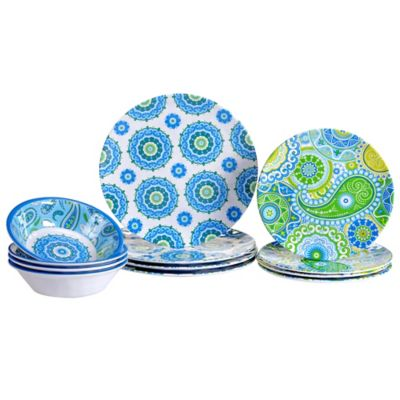 Certified International Boho 12-Piece Dinnerware Set  sc 1 st  Bed Bath u0026 Beyond & Buy Colorful Melamine Dinnerware from Bed Bath u0026 Beyond