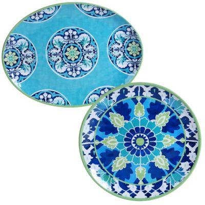 Certified International Grenada 2-Piece Platter Set  sc 1 st  Bed Bath \u0026 Beyond & Buy Melamine Dinnerware Sets from Bed Bath \u0026 Beyond