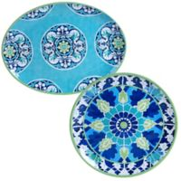 Certified International Grenada 2-Piece Platter Set
