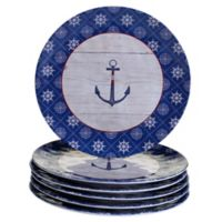 Certified International Nautique Melamine Dinner Plates (Set of 6)