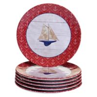 Certified International Nautique Melamine Salad Plates (Set of 6)