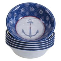 Certified International Nautique Melamine All-Purpose Bowls (Set of 6)