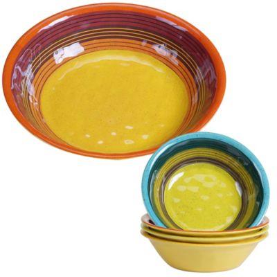 Certified International Sedona 5-Piece Salad Serving Set  sc 1 st  Bed Bath \u0026 Beyond & Buy Multi Colored Dinnerware Sets from Bed Bath \u0026 Beyond