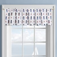 Colordrift Lighthouse Rod Pocket Kitchen Window Valance in White