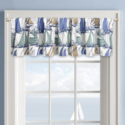 Sailboat Window Valance In White