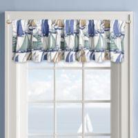 Sailboat Window Valance in White