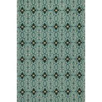 KAS Harbor Scrollwork 2-Food x 3-Foot Indoor/Outdoor Accent Rug in Teal