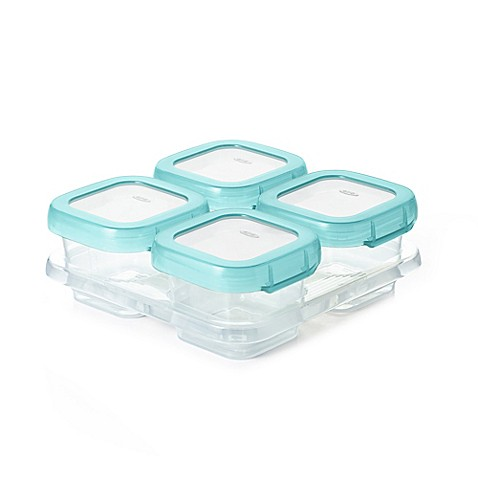 Oxo Tot 174 4 Pack 4 Oz Baby Blocks Freezer Containers Bed