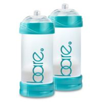 BARE® 2-Pack 8 oz. Polypropylene Air-Free Bottles with Perfe-Latch® Nipples in Turquoise