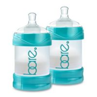 BARE® 2-Pack Polypropylene 4 oz. Air-Free Bottles with Easy-Latch Nipples in Turquoise